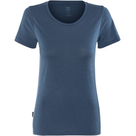 Icebreaker Tech Lite SS Low Crewe Shirt Women prussian blue
